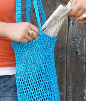 Crochet Tutorial Produce Tote Bag - Right Hand Version