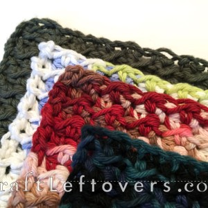 The Perfect Size for a Crocheted Dishcloth